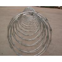 Buy cheap High Protection Galvanized Barbed Wire Coil , Spiral Barbed Wire Fence BTO-18 from wholesalers