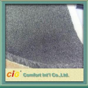 Buy cheap Grey Flame Retardant Carpet Fabrics , Polyester Bonding Brushed Carpet For Indoor / Outdoor product