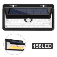 Buy cheap 158LED Waterproof Solar PIR Motion Sensor Wall Lamp Light And Simulation 3Modes Flame Light Security Solar from wholesalers