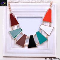 Buy cheap korea luxury style necklace vners colored oil charm glossily necklace from wholesalers