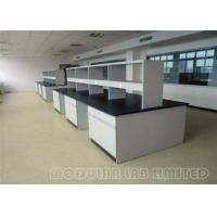 Buy cheap Floor Mounted Stee Lab Bench / Modular Laboratory Furniture With Stools from wholesalers