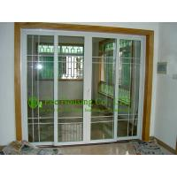 Buy cheap Residential UPVC Sliding Door With Grilled, Double Glazed Vinyl Sliding Door for sale from wholesalers