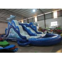 Buy cheap Lovely Dolphin Long Blow Up Slippery Slide , Children Little Tikes Inflatable Water Slide from wholesalers