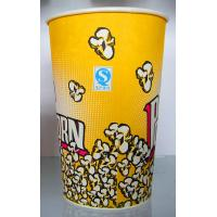 Buy cheap Yellow Paper Ice Cream Cups 100ml  , 170ml  , 200ml Takeaway Coffeae Cups product