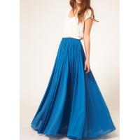 Buy cheap Blue Pleated Jersey Maxi Womens Summer Skirts Customized And Casual from wholesalers