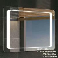 Buy cheap Stainless Frame Hotel Bathroom Mirror With Radio ,  Magnifying Custom Backlit Mirror from wholesalers
