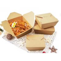Buy cheap Custom Design Paper Takeaway Box Print Recycled Kraft Paperfolding Meal Food Box from wholesalers