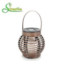 Buy cheap Portable Round Solar Rattan Lantern Light , Decorative Rattan Solar Lamp from wholesalers