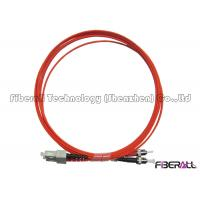 Buy cheap OM1 / OM2 Fiber Type Fiber Optic Jumper SC To ST Fiber Patch Cable LSZH Jacket from wholesalers