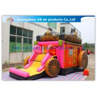 Buy cheap Giant Outdoor Car Inflatable Princess Bouncy Castle With Slide For Children Toys product