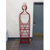 Buy cheap Red Metal Pop Wine Mugs Retail Free Standing Glass Cup Display Rack Multi- Layer from wholesalers