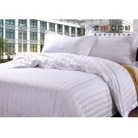 Buy cheap 250TC Colorful School Hotel Collection Bedding Sets Queen Size Plain Stripe Design from wholesalers