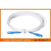 Buy cheap Indoor FTTH Fiber Optic Patch Cord 3M With SC / UPC Connectors FRP Strength Member from wholesalers