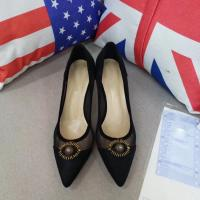 Buy cheap Special mental eyes decoration pumps Shoes elegant Stiletto Heels Women dress shoes for party ladies fashion casual shoe from wholesalers