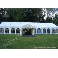 Buy cheap White Fabric Cover Hard Aluminum Garden Party Marquees with Enterance Walkway from wholesalers