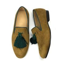 Buy cheap Yellow Mens Velvet Loafers Customized Color Cotton Fabric Lining Material from wholesalers