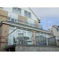 Buy cheap Glass Balustrade Fittings Residence Outdoor Balcony Railing Glass Fence from wholesalers