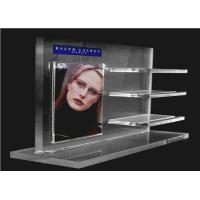 Buy cheap Recycled Acrylic Cosmetic Display Floor Stand Transparent With Poster Holder from wholesalers