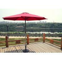 Buy cheap Red Parasol Outdoor Sun Umbrella / Patio Furniture Umbrella Custom from wholesalers