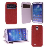 Buy cheap Ultra Thin S view Leather Flip Samsung Galaxy S4 Phone Covers Case Durable from wholesalers