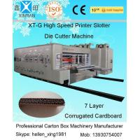 Buy cheap Remote Control Flexo Printer Slotter Machine With Lead Edge Feeder 150 Pieces/Min from wholesalers