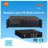 Buy cheap FCTEL Managed 2 Ports 10/100M Ethernet NMS Fiber Media Converter RJ45 POE Transceiver from wholesalers