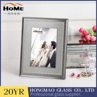 Buy cheap Grey Color Glitter Glass Photo Frame For Home Decoration 180*230*15MM Size from wholesalers