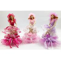 Buy cheap Gift Porcelain Doll Music Box With Purple Satin Ribbon 8 Inch product