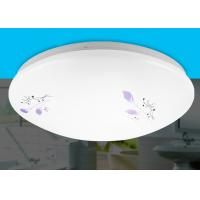 Buy cheap Pure White Acrylic Ceiling Lights / Ceiling Mounted Light With Purple Arabesquitic Pattern from wholesalers