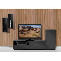 Buy cheap Black E1 MDF Wall Mounted Showcase Entertainment Wall Unit Furniture from wholesalers