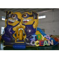 Buy cheap Exhibition Fun Minions Inflatable Bouncer Combo Commercial Digital Printing from wholesalers