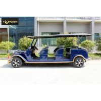 Buy cheap AC System 12 Seater Golf Cart Shuttle Car  with Rain Cover For Tourist from wholesalers