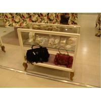 Buy cheap ISO Approval Brown Wooden Glass Display Cabinet For Bags / Clothes Sale from wholesalers