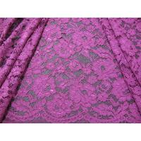 Buy cheap Elegant Purple Crochet Flower Lace Fabric Nylon Rayon Material For Garment from wholesalers