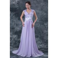 Buy cheap Lavender Applique Sequins V Neck Bride Mothers Dresses Gowns for Formal Parties from wholesalers