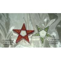 Buy cheap Star Shape Ceramic Christmas Gift Tealight Holder With Hand Painting 10.5 X 10.5 X 3 Cm from wholesalers