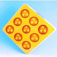 Buy cheap Yellow Solar Warning Sign Dia.100mm LED Flasthing Lighted Traffic Signs from wholesalers
