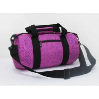 China 600d Polyester Purple Heat Transfer Print Travel Gym Bag Front Zipper Pocket on sale