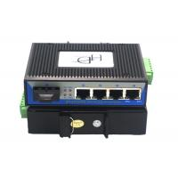 RJ45 1 Port SFP Fiber Ethernet Switch 12~48V With Full / Half Duplex Mode