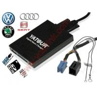 Buy cheap Car Digital CD changer USB MP3 adapter for ISO 8-Pin VW Audi Skoda Seat from wholesalers