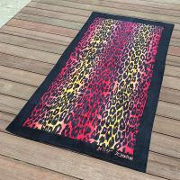 Buy cheap Sexy Leopard Print Quick Dry Beach Towels for Promtion with Black Frame from wholesalers