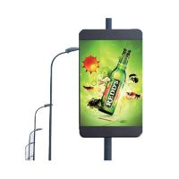 Buy cheap Display customized size LED display lamp post single panel and double panel advertising equipent digital signage from wholesalers