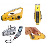 Buy cheap Solar Power Hand Dynamo Flashlight with Radio in Earthquake from wholesalers