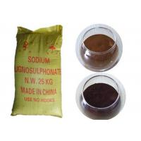 Buy cheap Concrete Admixtures Sodium Lignosulfonate CAS No 8061-51-6 Water Reducing from wholesalers