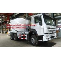Buy cheap SINOTRUK HOWO ZZ5257GJBM3841W Mobile Mixer Cement Truck LHD 10CBM 290HP Engine from wholesalers