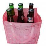 Reusable wine cooler bag 6 bottles