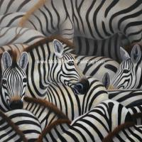 Buy cheap Handmade Abstract Art Canvas Paintings Animal Zebra Print Canvas Wall Art product