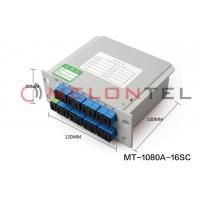 Buy cheap 1 To 16  SC APC Inserted Fiber Optic Terminal Box PLC Ftth Splitter Full Core Structure from wholesalers