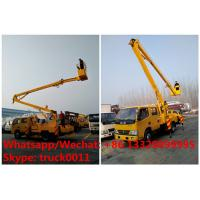 Buy cheap 2020s new good price RHD DONGFENG 14m 1-6m aerial platform truck vehicle in Tanzania for sale, overhead working truck product