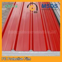 Temporary Surface Protection Films And Tapes For PPGI / PPGL Corrugated Roofing Sheet